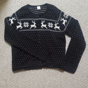 Gymboree Holiday Cardigan with Reindeers